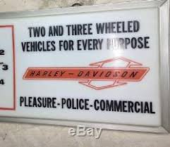 harley davidson lighted signs vintage harley davidson lighted sign clock