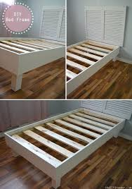 diy bed frame into bench how to make a bed frame out of old