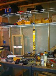 the quaint cottage organizing the basement workshop