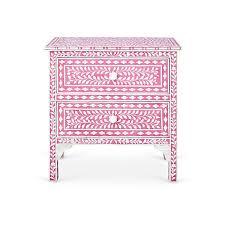 hailey bone inlay nightstand pink nightstands 1 755 liked on