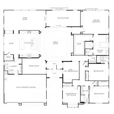 Single Storey Four Bedroom House Plan House Plan One Story Descargas Mundiales Com
