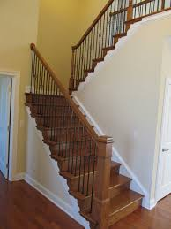 U Stairs Design Great Staircase Design Of Foyer U Shaped Staircase With Craftsman