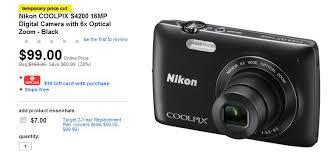 nikon camera target black friday target nikon u0026 canon cameras 50 off