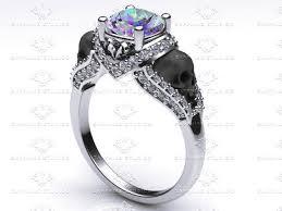 topaz engagement ring amora 1 65ct mystic topaz gold skull engagement ring
