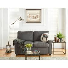 Love Seat Sofa Sleeper by Mainstays Sofa Sleeper With Memory Foam Mattress Grey Walmart Com