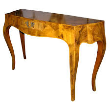 burl wood console table lyrical neoclassical oyster burl wood console oysters consoles