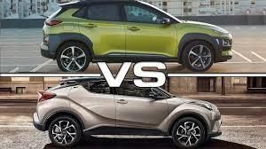 nissan juke vs honda vezel 2018 hyundai kona vs 2017 toyota c hr youtube