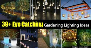 39 eye catching gardening lighting ideas