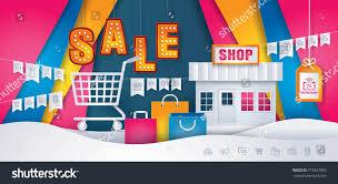 Flag Store Online Business Online Shop Store Shopping Cart Stock Vector 773927905