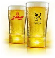 bud light gold can rules limited edition wayne gretzky gold synced glass w free shipping