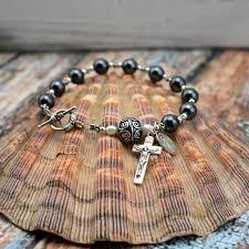 bracelet rosary hematite rosary bracelet heavenlybound