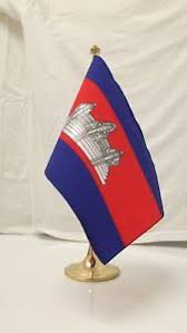 single cambodia khmer flag desk flag stand ebay