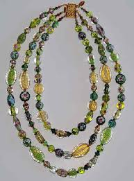 large bead necklace designs images Beaded necklaces by jewelry designer yodefet using murano glass jpg