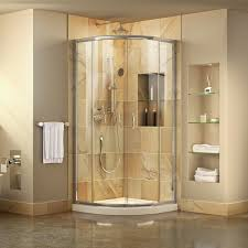 Shower Room Door Dreamline Prime 33 W X 74 75 H X 33 D Sliding Door Shower