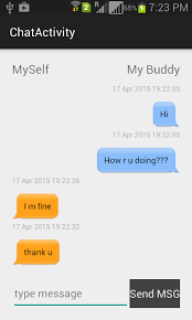chat android designing android chat chat ui codeproject