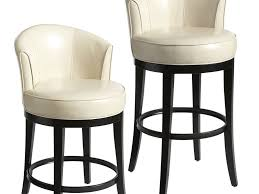 Leather Bar Chair Furniture Your Kitchen Look Good With This Low Back Bar Stools