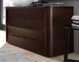modern italian bedroom set in leather with nightstands and dresser