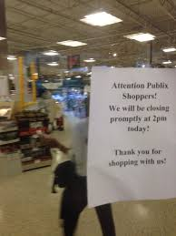 last area publix stores close at 2 p m as residents hunker down