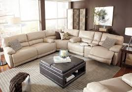 Sectional Sofas Rooms To Go by Cindy Crawford Home Auburn Hills Taupe Leather 3 Pc Reclining