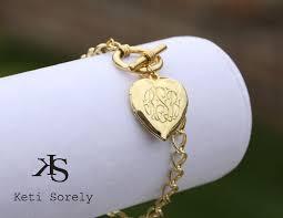 monogrammed locket personalized heart locket bracelet monogram initilas