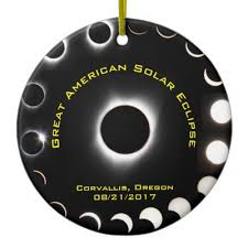 family totality solar eclipse personalized metal ornament zazzle