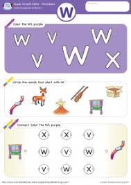 letter recognition u0026 phonics worksheet u2013 w uppercase super simple