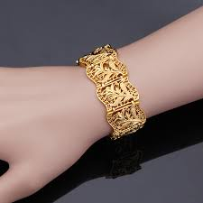 aliexpress buy wedding gifts18k gold plated wide newest big wide dubai gold bangles for women men18k gold plated
