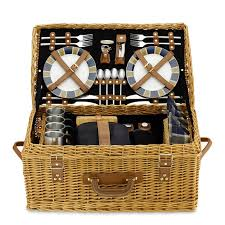 picnic basket for 2 wicker picnic basket williams sonoma