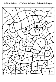 printable color by number coloring pages printable color number