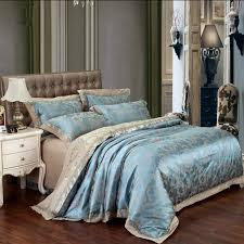 Jacquard Bedding Sets Jacquard Silk Bedclothes Bedding Set Luxury 4 6pcs Gold Satin Bed
