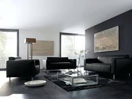salon canapé noir extraordinaire salon avec canape noir d coration barri res escalier