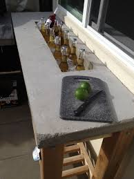 I Am So Building This Outdoor Bar Concrete Counter Top Like And