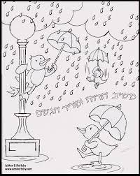 rain rain rain coloring page