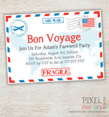 farewell party invitation travel farewell party invitation bon voyage going away party