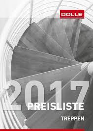treppe ohne gelã nder brutto preisliste 2017 treppen dolle treppen