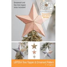 tree topper tree topper ornament fabriflair pattern indygojunction