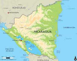 Central America Physical Map by Nicaragua Is Country In North America The Capital Of Nicaragua Is