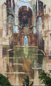 borondo in kiev paints saint sophia s cathedral on a wall borondo for sky art foundation mural social club kiev ukraine june 2016 photo makism belousov