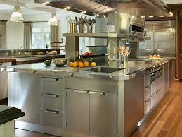 kitchen island steel kitchen stainless steel top kitchen island brown oak wood