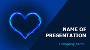 Download Free Free Blue Love Powerpoint Theme For Presentation Powerpoint Theme