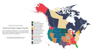 Mls Teams Map Nhl Playoffs Map Shows Who North Americans Are Rooting For