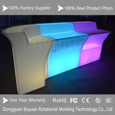Desk Molding Rotational Molding Plastic Led Bar Reception Counter Led Bar Desk