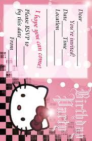 hello kitty birthday invitations free eysachsephoto com