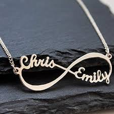 necklace store names images Sterling silver infinity necklace personalized name jpg