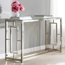 Glass Console Table Glass Console Table Design Decoration