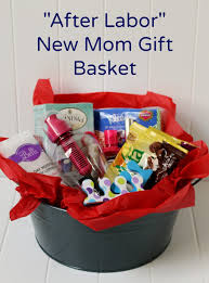 create a diy new gift basket for after labor gifts