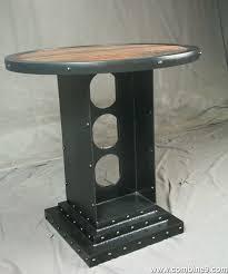 Industrial Bistro Table Buy A Handmade Vintage Industrial Bistro Table Industrial