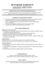 resume resume samples skills and qualifications banking database