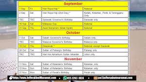 Kalender 2018 Hari Raya Puasa Senarai Tarikh Cuti Umum Di Malaysia Tahun 2017