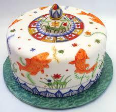 Oriental Birthday Cake Chinese Fish